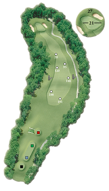 Blackstone National Golf Club – 17th Hole - Par 4 Layout