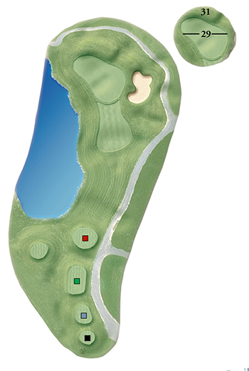 Blackstone National Golf Club – 11th Hole - Par 3 Layout