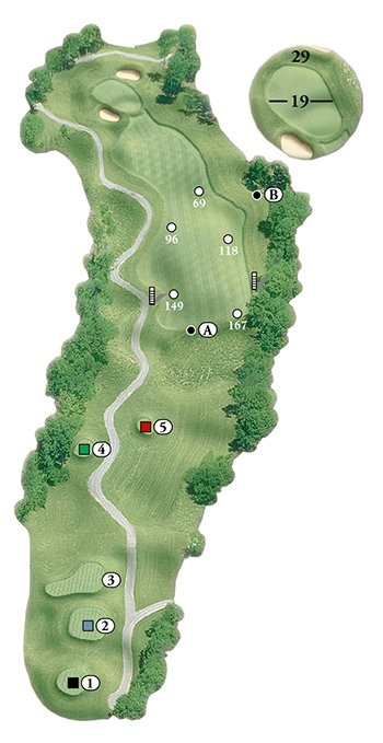 Blackstone National Golf Club – 12th Hole - Par 4 Layout
