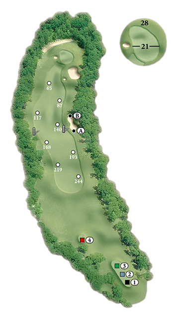 Blackstone National Golf Club – 14th Hole - Par 4 Layout