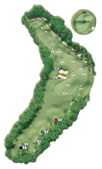 Blackstone National Golf Club – 15th Hole - Par 4 Layout
