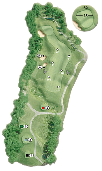 Blackstone National Golf Club Par 4 1st Hole Layout