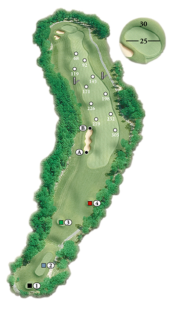 Blackstone National Golf Club – 2nd Hole - Par 5 Layout