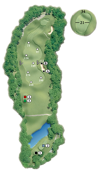 Blackstone National Golf Club – 4th Hole - Par 4 Layout