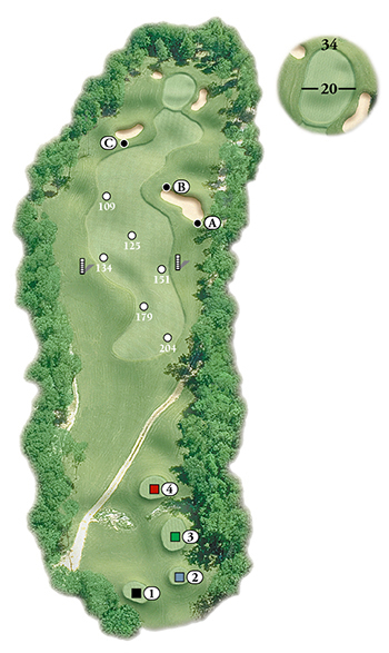 Blackstone National Golf Club – 5th Hole - Par 4 Layout
