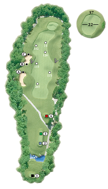 Blackstone National Golf Club – 6th Hole - Par 4 Layout