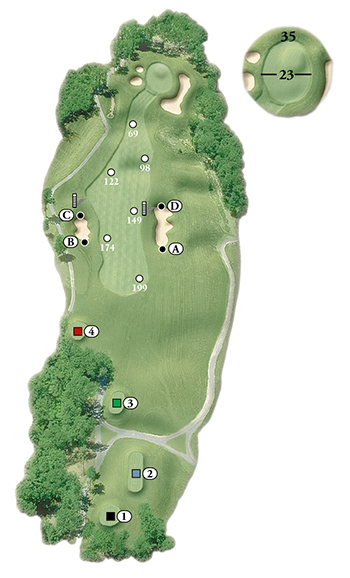 Blackstone National Golf Club – 9th Hole - Par 4 Layout