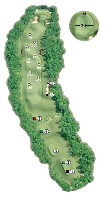 Blackstone National Golf Club – 16th Hole - Par 5 Layout