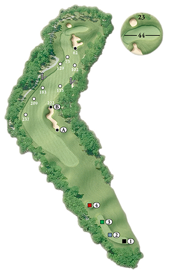 Blackstone National Golf Club – 8th Hole - Par 5 Layout